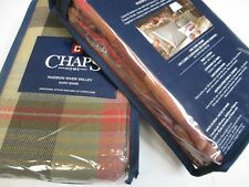 New Chaps HUDSON RIVER VALLEY Plaid Checked 2 Euro Shams - Pair