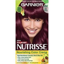 Garnier Nutrisse Nourishing Hair Color Creme, 462 Dark Berry Burgundy