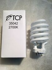 TCP 35042 42 Watt 4-Pin TCX Base Spiral / Spring Light Bulb 42W=150W 2700K