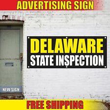 Delaware State Inspection Advertising Banner Vinyl Mesh Decal Sign Repair Open