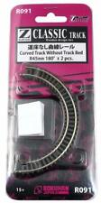 More details for rokuhan r091 curved track without track bed r45mm 180 degree (2pcs) (z scale)