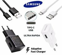 ORIGINAL CARGADOR SAMSUNG USB TIPO C 3.1 PARA GALAXY S8 NOTE 8 PLUS ULTRA RÁPIDA