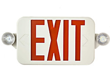 All Led Decorative Red Exit Sign Amp Emergency Light Combo With Battery Backup