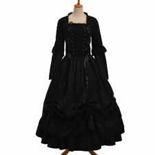 Victorian Crossover Strap Corset Reenactment Cosutme Dress Puff Sleeve Ball Gown