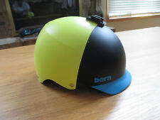 BERN HELMET - BIKE / SKATE BOARD SNOW - SINK FIT - MATTE BLACK / YELLOW / BLUE