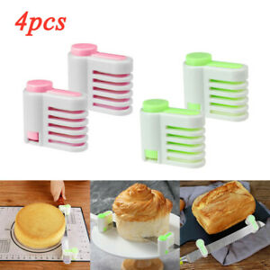 2/4 Pcs Even Cake Slicing Leveler Bread Cutter Durable Baking Kitchen Tools