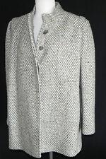 Woven Wool Coat (International Scene) Size 13/14 Grey  Made in Austria