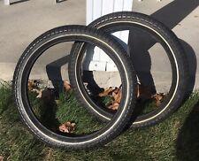 "Vintage NOS Kenda Bicycle Tires 2.25-16"" K-260 4 Ply Rating White Wall Stripe"
