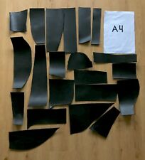 Small pieces Black Veg tan Leather Remnants Offcuts 2mm thickness 1kg weight