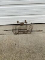 Vintage 1930s Early Steel Metal Bicycle Bike Handlebar Basket (Schwinn Colombia)