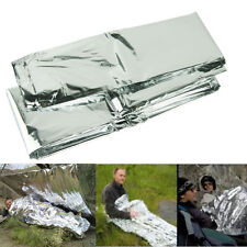 Emergency Blanket Outdoor Rescue Kit Thermal Space Survival Sleeping Bag Shelter