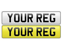 SINGLE Standard MOT UK Road Legal Car Reg Registration Number Plates & Fixings