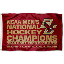 BC Eagles 5-Time National Hockey Champions Flag and Banner