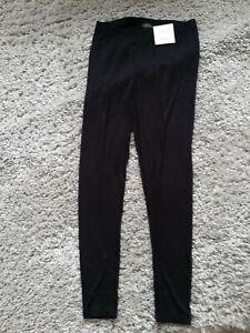 Topshop Black Ankle Length Leggings Size 12 BNWT