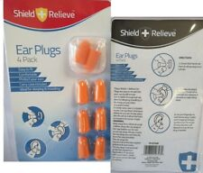 Shield Relieve EAR PLUGS Pack 4 Noise Reduction Easy Fit ideal Sleeping Relaxing
