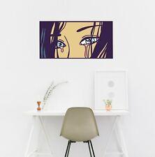 Crying Girl Pop Art Eyes Anime Manga Laptop Decal Vinyl Sticker Wall Décor
