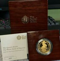 2020 1 Troy OZ Gold Queen's Beasts White Horse Proof Presentation Box Edition