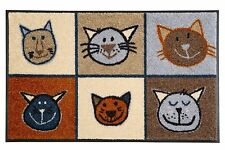 Fu�Ÿmatte WMK wash + dry Design Miau Miau Katze Katzen 50x75 cm  008217