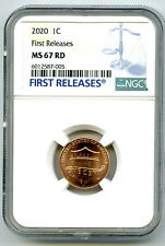 2020 P LINCOLN UNION SHIELD PENNY NGC MS67 FIRST RELEASES CENT RARE BLUE LABEL