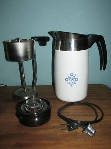 Vintage CORNING WARE Cornflower Blue PERCOLATOR 10 Cup Coffee Pot Working