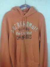 Abercrombie And Fitch Hoodie Sweatshirt Orange Large L Pullover