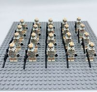 20x Orange Clone Troopers Mini Figures (LEGO STAR WARS Compatible)