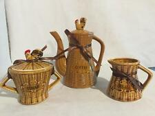 Lot 11 VINTAGE ROOSTER HEN KITCHEN SET CREAM SUGAR JAM JELLY COFFEE BUTTER SPOON