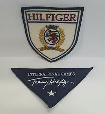 Tommy Hilfiger Vintage Embroidered Logo Sew On Patches- Set of 2