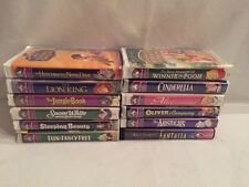 Lot of 12 Disney VHS Tapes Masterpiece Collection (New Old Stock) FREE SHIP