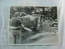 Vintage Photo Dumped Truck Wreck Big Beaver International Dump Truck 804
