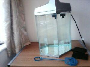 Fish 'R' Fun Hexagonal glass Fish Tank aquarium, 21.6 Litre Capacity,