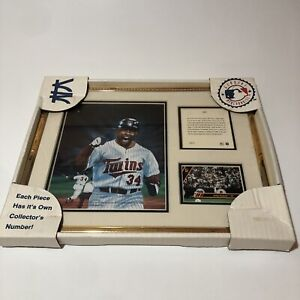 1992 Kirby Puckett Lithograph - Kelly Russell Lithograph