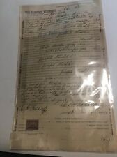 1899 Rental Agreement Lease Papers Central PA Legal