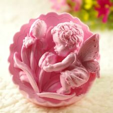 Flower Baby Angel Soft Silicone Soap Candle Molds Mould Craft DIY Handmade