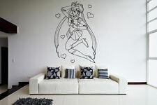 Wall Vinyl Sticker Decal Anime Manga Sailor Moon Girl VY197