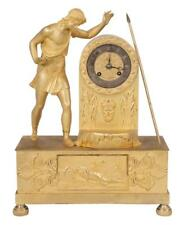 Louis Xvi style ormolu mantle clock with figure of a warrior at the s. Lot 189