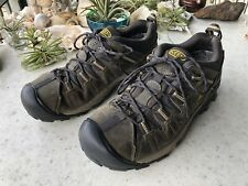 Keen Men's Army Green Hiking Trail Outdoor Shoes Size 9.5 010717 Yellow Accents