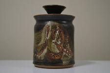 Pottery Ceramic Honey Pot Jar w/ Lid signed