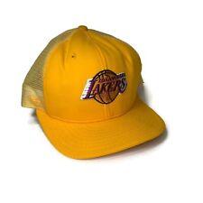 La Lakers Vintage Basketball Hat Snapback Baseball Trucker Mesh Made In Usa