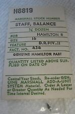 Hamilton 16s Balance Staff Marshall H8819 New in package