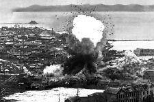 New 5x7 Korean War Photo: B-26 Invaders Aircraft Bomb Depot in Wonsan, N. Korea