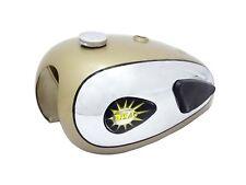 BSA A7 A10 Super Rocket Golden Chrome Fuel Tank With Knee Pad Cap & Tap CAD