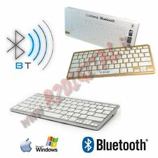 TASTIERA SLIM BLUETOOTH BIANCO ULTRA SOTTILE APPLE iMAC STYLE ANDROID COMPUTER