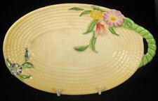 Carlton Ware Yellow Springtime Flowers Embossed Basket Dish/Bowl