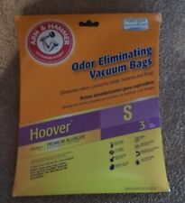 Hoover Odor Eliminating Vacuum Bags Type S Pkg of 3