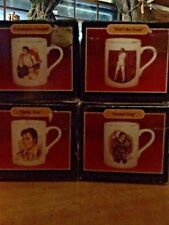 ELVIS PRESLEY ... FOUR PIECE COFFEE CUP SET FROM GRACELAND GIFT SHOP 1980'S