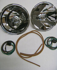 1928 to 1931 Ford Model A Halogen Headlight Reflector Conversion Kit 12 volt