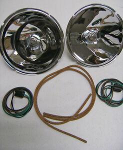 1928 to 1931 Ford Model A Halogen Headlight Reflector Conversion Kit 12 volt