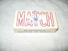 Federal Cartridge Co. .45 Match 1962 vintage ammo box Pre-Child Warning