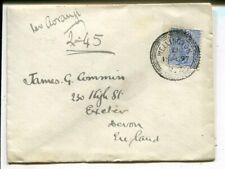 New Zealand 2½d on cover to England, Wellington 1897